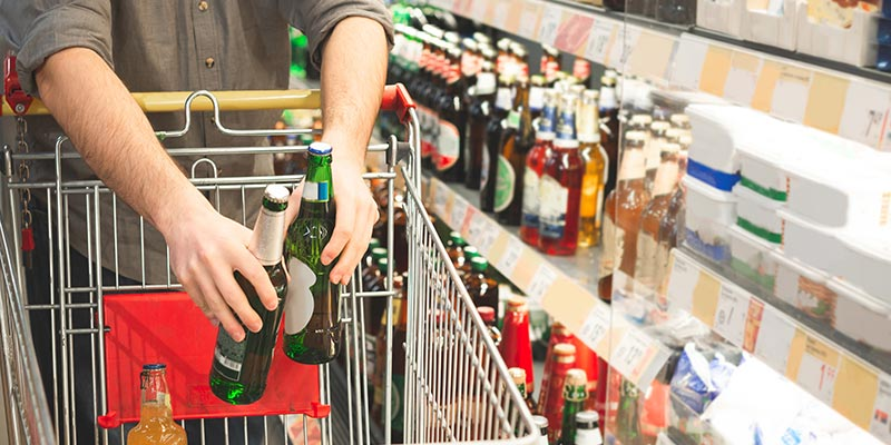 Take-home alcohol sales almost 40% higher than last year